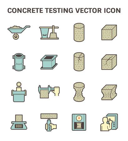 construction equipment: Concrete testing vector icon set design. Illustration