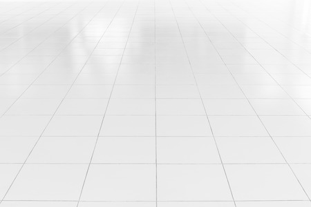 White tile floor with geometric line for background. Imagens - 70011610