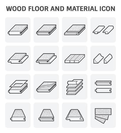 Conception de plancher en bois et matériel vectoriel.