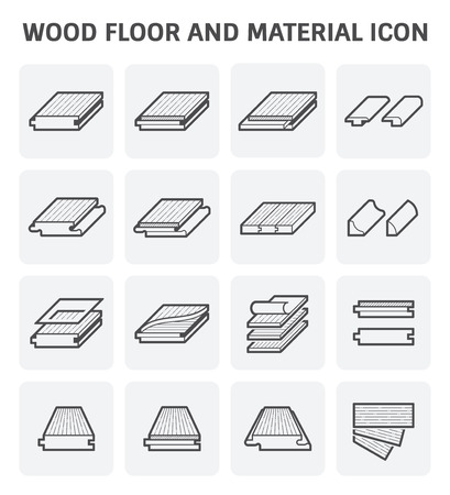 linoleum: Wood floor and material vector icon set design.