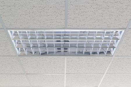 Techo y la iluminación en el interior del edificio de oficinas. Foto de archivo