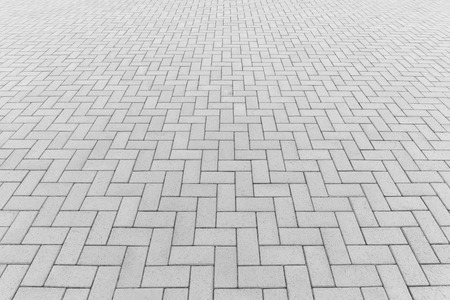 Concrete paver block floor pattern for background. Imagens