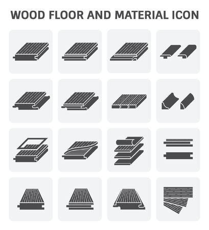parquet floor layer: Wood floor and material vector icon set design.