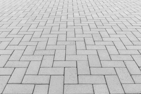 walkway: Concrete paver block floor pattern for background. Stock Photo