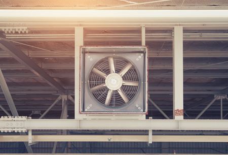 ventilate: Big fan for sucking air inside to outside of factory.