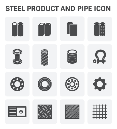 shackle: Vector icon of steel and metal product  for industry work.