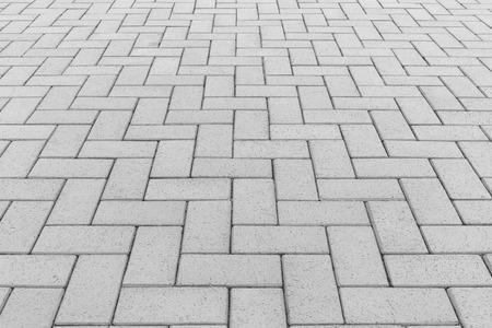 Concrete paver block floor pattern for background. Banque d'images