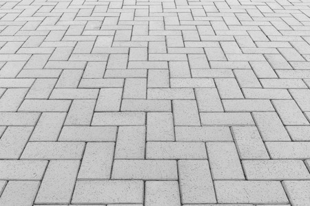 Concrete paver block floor pattern for background. Standard-Bild