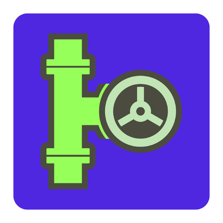 Vector icon of steel pipe.