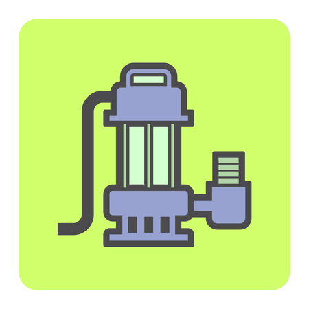 Vector icon of electric water pump or submerge water pump