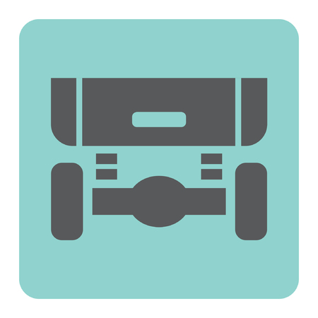 shock absorber: Car suspension and shock absorber vector icon. Illustration
