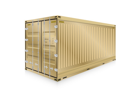 heavy metal: Vector of cargo container for shipping and transportation work isolated on white background.