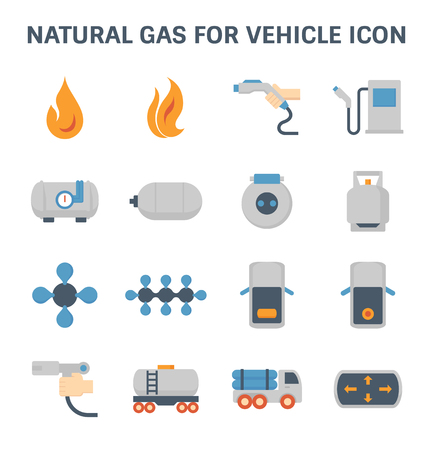 Tank and transportation icon of gas.