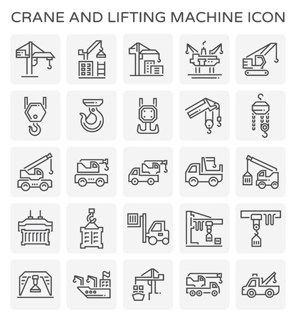 Crane and lifting icon. 矢量图像