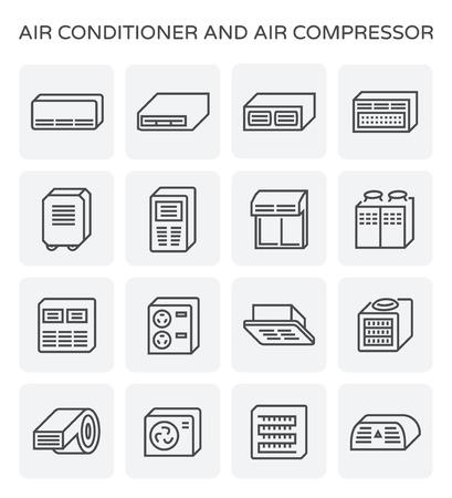 climatiseur et climatiseur icône ensemble de l & # 39 ; air