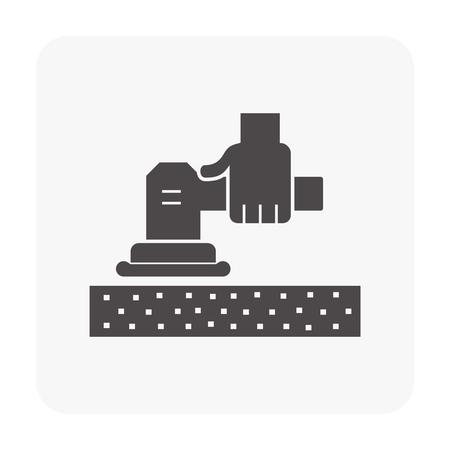 Floor repair icon on white. Ilustrace