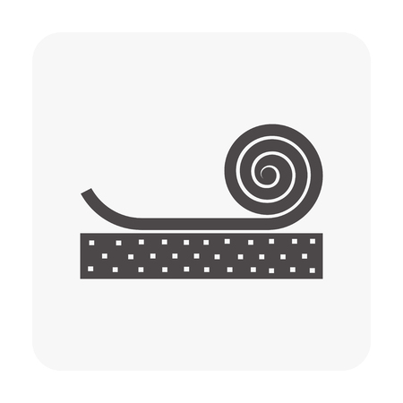 Vinyl floor icon on white background. Vector illustration.  イラスト・ベクター素材