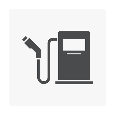 Gas fuel nozzle icon on white. Çizim