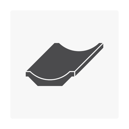 Street gutter icon on white. Illustration