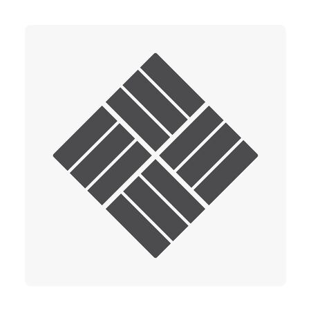 Concrete pave block floor icon on gray background Stock Vector - 97319142