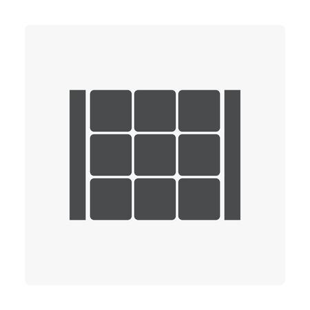 Concrete paver block floor icon.