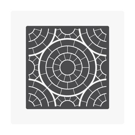 Concrete paver block floor icon set. Stock Vector - 96645325