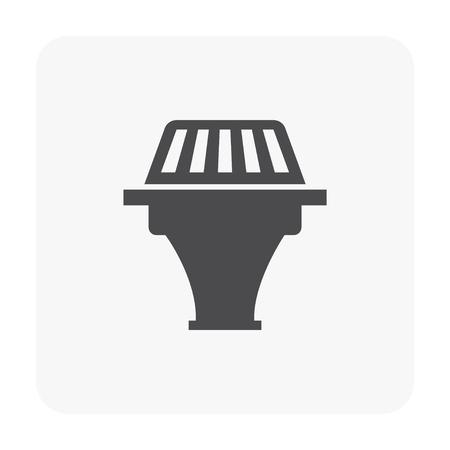 Drainage equipment icon vector illustration