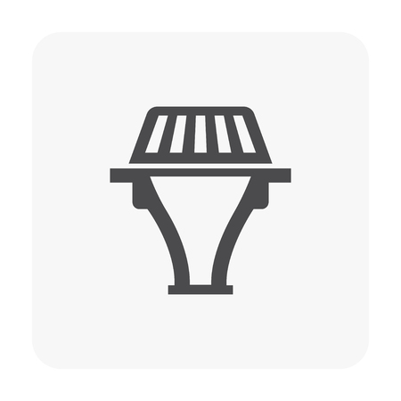 Drainage equipment icon on white.
