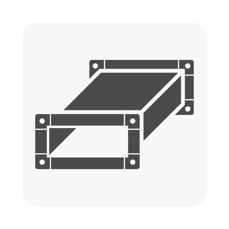 Air duct pipe icon for HVAC system vector illustration