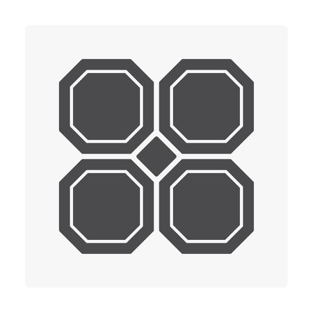 Concrete paver block floor icon vector illustration