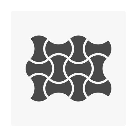 Concrete paver block floor icon on white. Stock Vector - 99565424