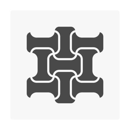 Concrete paver block floor icon on white. Stock Vector - 97071788