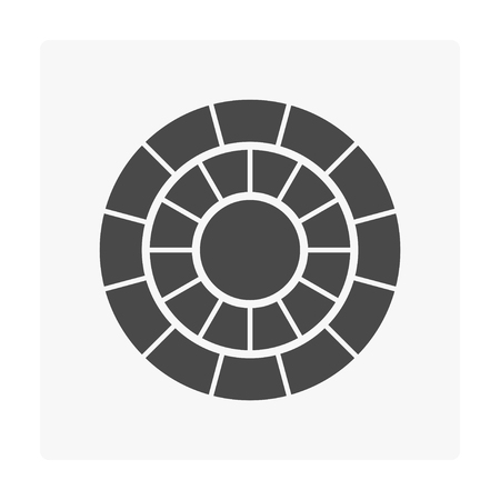 hormigón icono de bloque de pavimentación de hormigón en blanco .