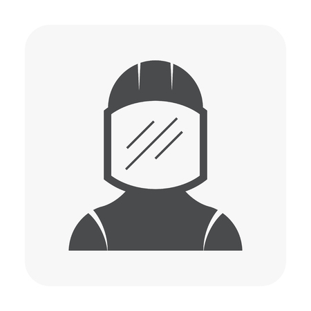 Industry worker icon on white.