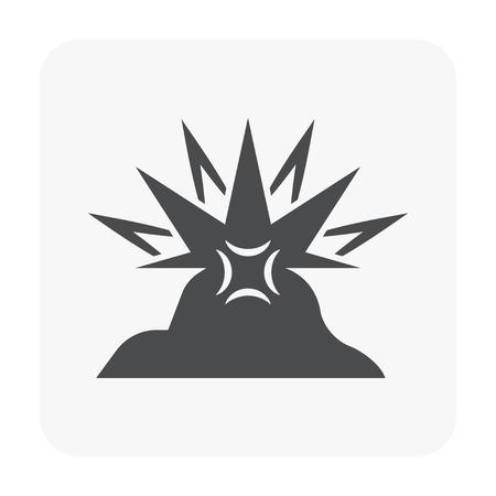 Metallurgy industry icon on white.