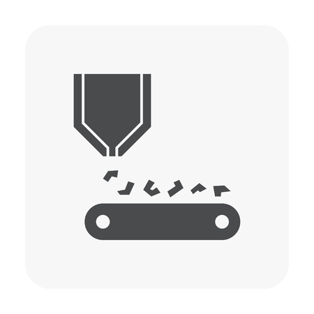 Metallurgy industry icon vector illustration