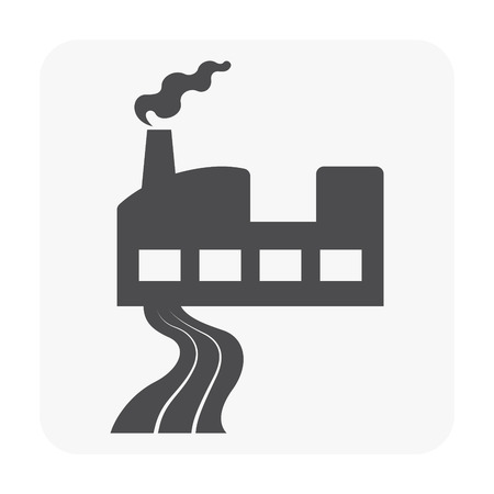 Wastewater and factory icon vector illustration Illustration