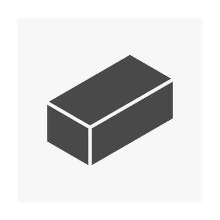 Concrete paver block floor icon on white. Stock Vector - 97575323