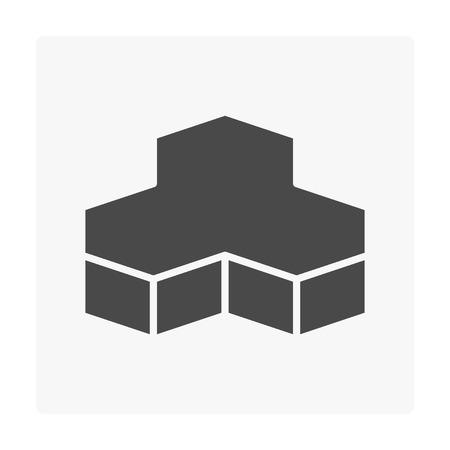 Concrete paver block floor icon on white. Stock Vector - 97575326