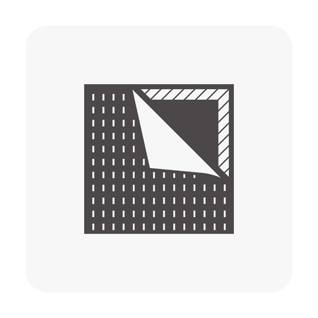 Vinyl floor construction icon on white. Ilustração