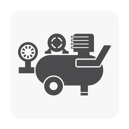 Air compressor pump and tool icon. Vettoriali