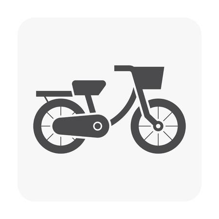 Bike icon on white back drop. Illustration