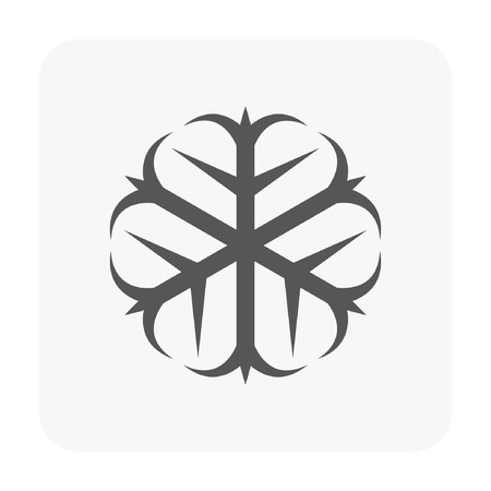 Roots with thorns - Car dashboard symbol on white.