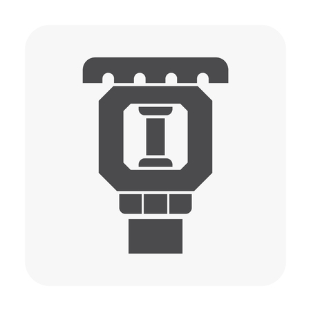 Fire sprinkler icon on white.