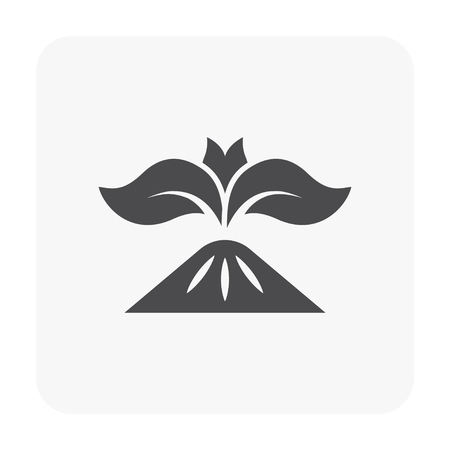 Gardening and tool icon on white background. Illustration
