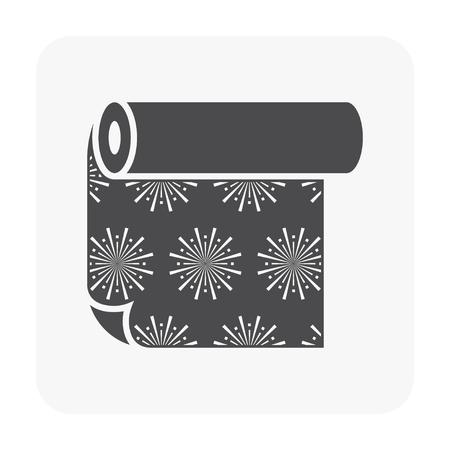 Linoleum pattern icon isolated on white background. Ilustrace