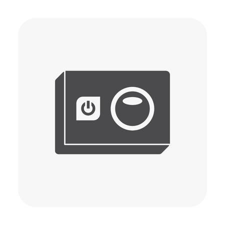 Sport camera and photography equipment vector icon. Stok Fotoğraf - 98081503