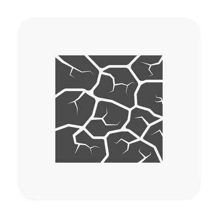 Soil testing and tool icon on white background.