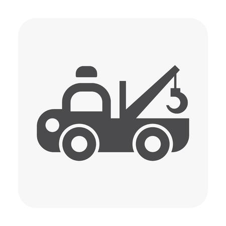 Vehicle icon on white background.