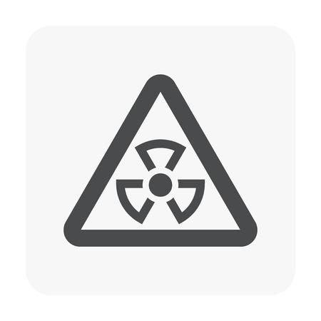Radiation icon on white